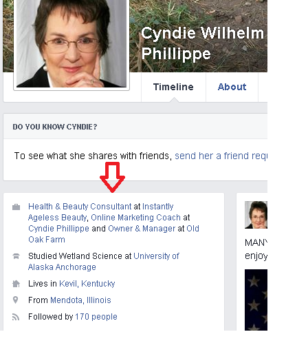 FB Profile About Section